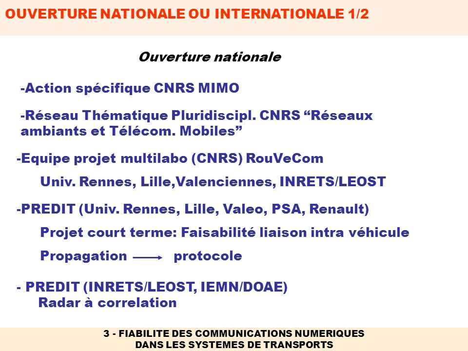Action spécifique CNRS MIMO