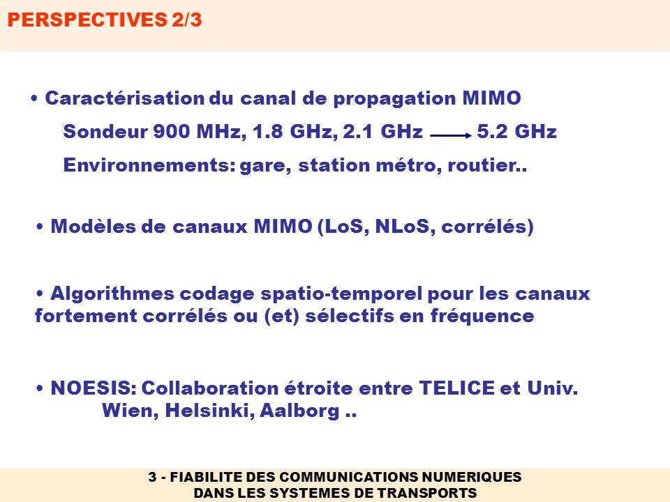 Caractérisation du canal de propagation MIMO