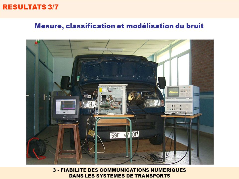 Mesure, classification et modélisation du bruit