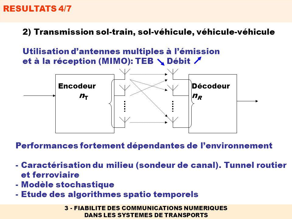 2) Transmission sol-train, sol-véhicule, véhicule-véhicule