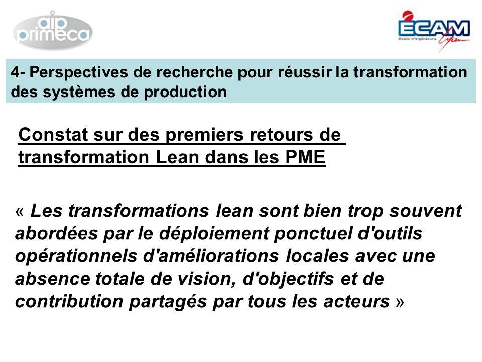 Constat sur des premiers retours de transformation Lean dans les PME
