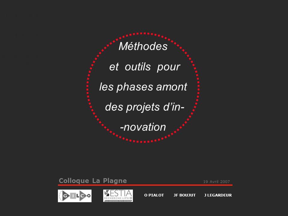 Méthodes et outils pour les phases amont des projets d'in- -novation
