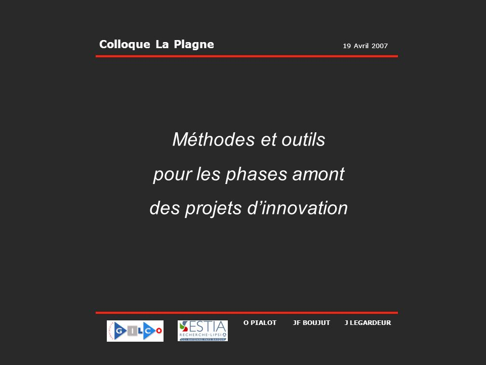 des projets d'innovation