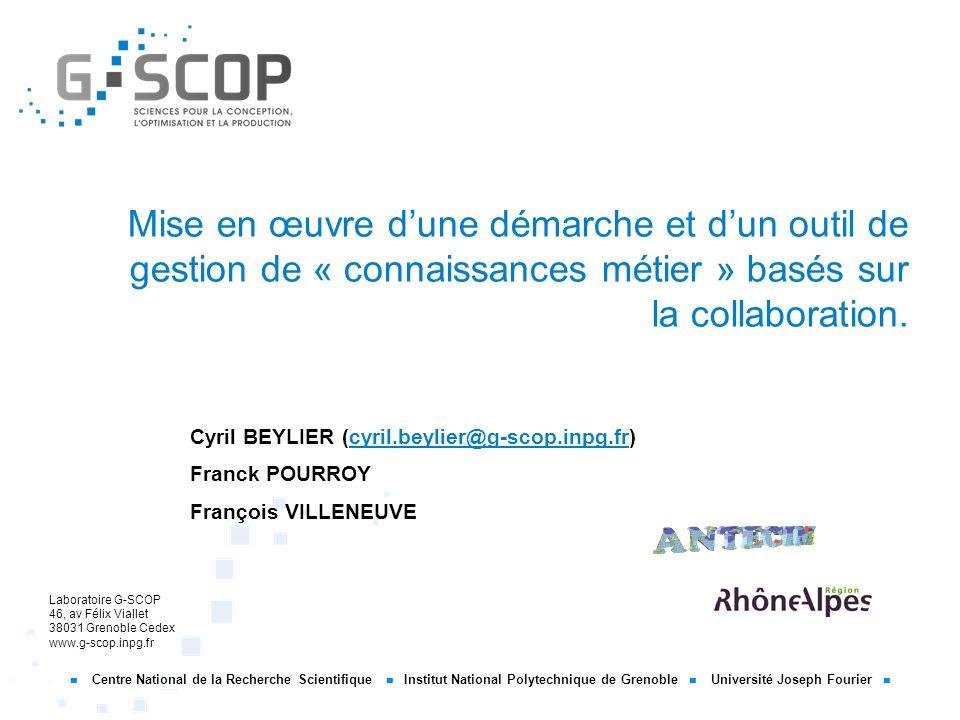 Mise en œuvre d'une démarche et d'un outil de gestion de « connaissances métier » basés sur la collaboration.