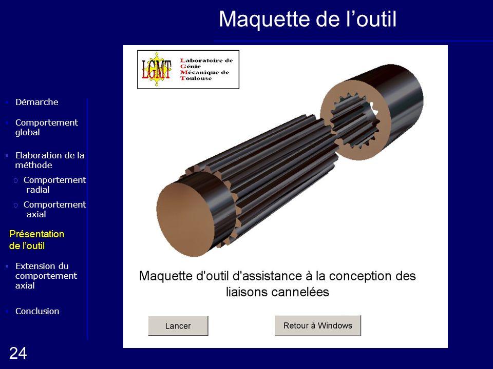 Maquette de l'outil Présentation de l'outil