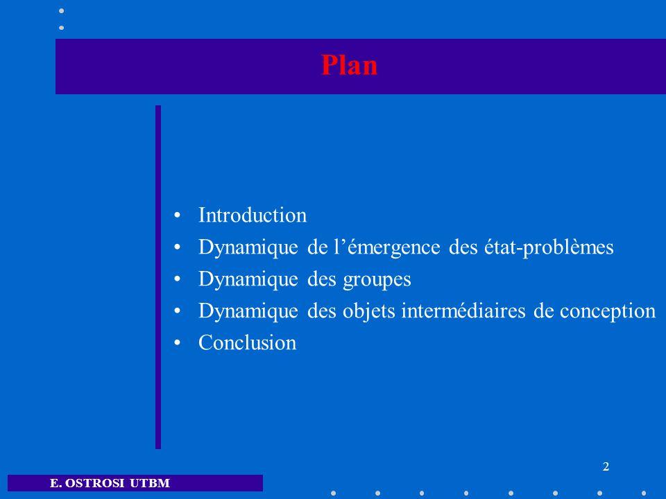 Plan Introduction Dynamique de l'émergence des état-problèmes