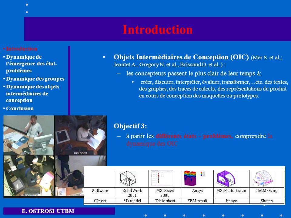 Introduction Objets Intermédiaires de Conception (OIC) (Mer S. et al.; Jeantet A., Gregory N. et al., Brissaud D. et al. ) :