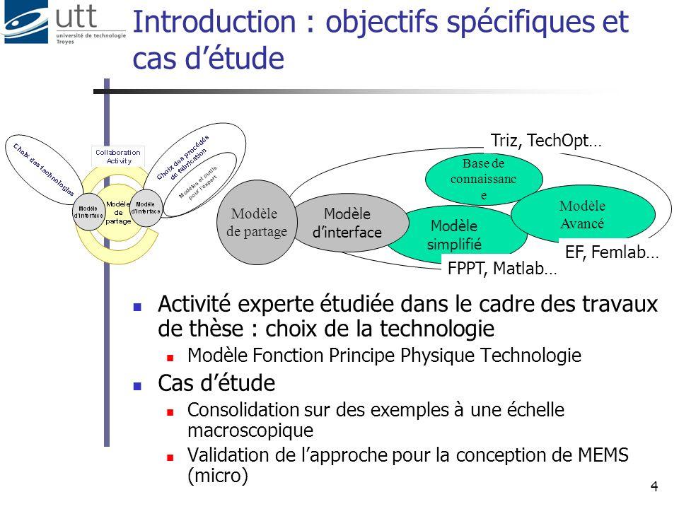 Introduction : objectifs spécifiques et cas d'étude