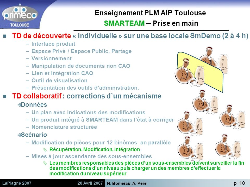 Enseignement PLM AIP Toulouse SMARTEAM ─ Prise en main