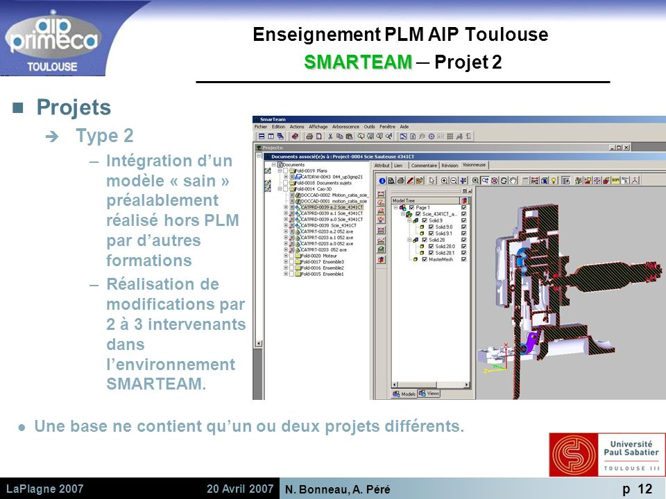 Enseignement PLM AIP Toulouse SMARTEAM ─ Projet 2