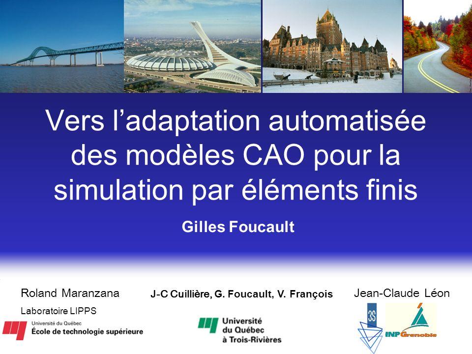 Vers l'adaptation automatisée des modèles CAO pour la simulation par éléments finis