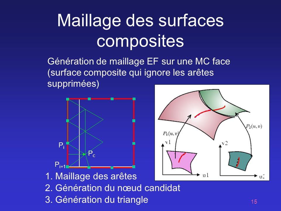 Maillage des surfaces composites