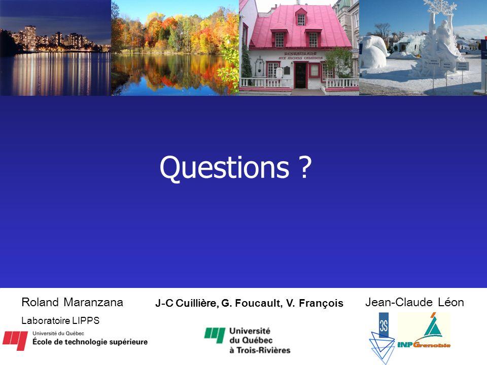 Questions Roland Maranzana Jean-Claude Léon