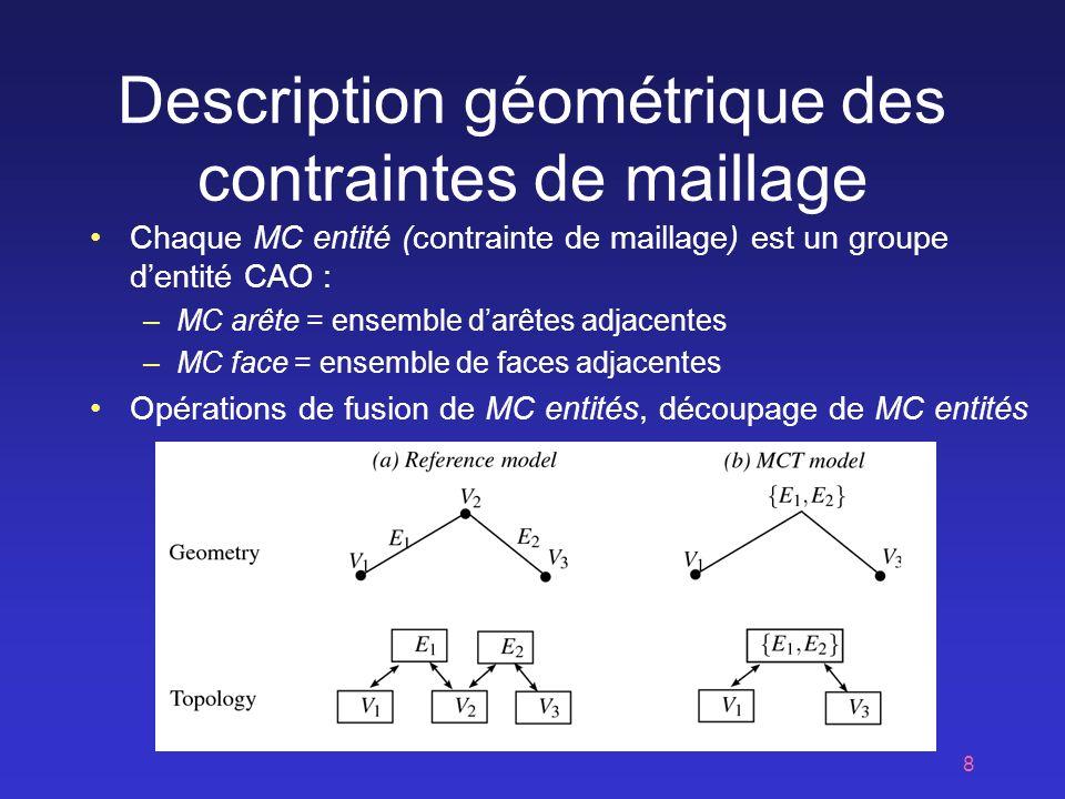 Description géométrique des contraintes de maillage
