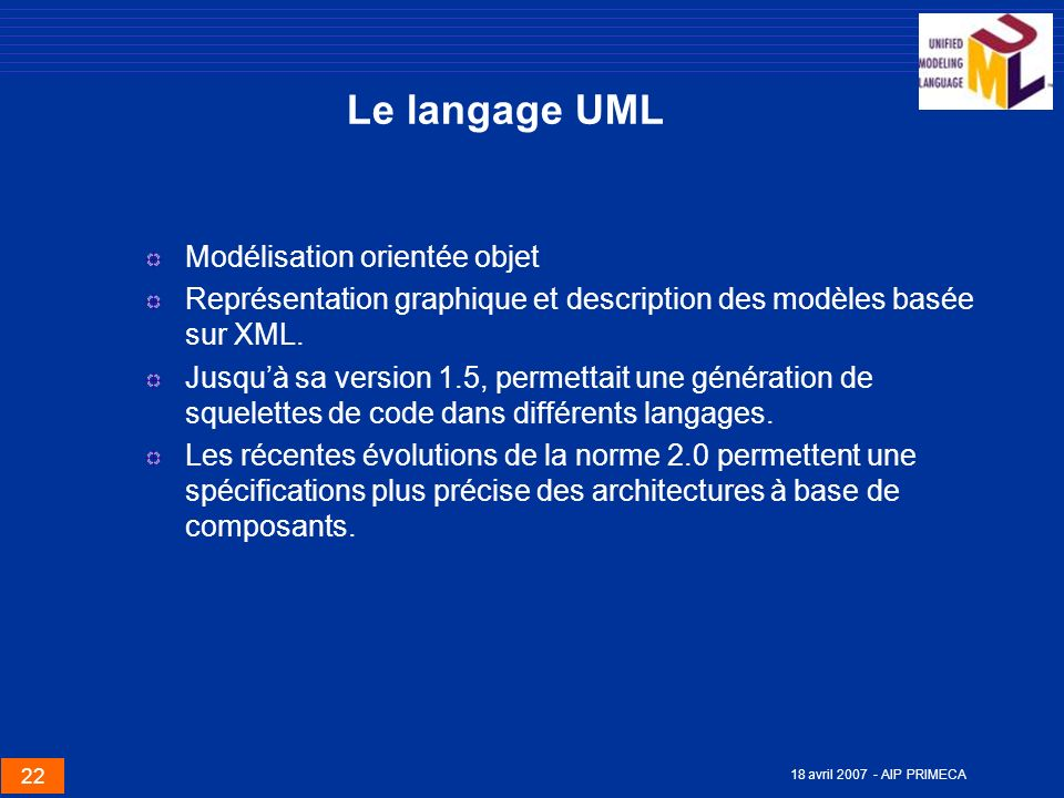 Le langage UML Modélisation orientée objet