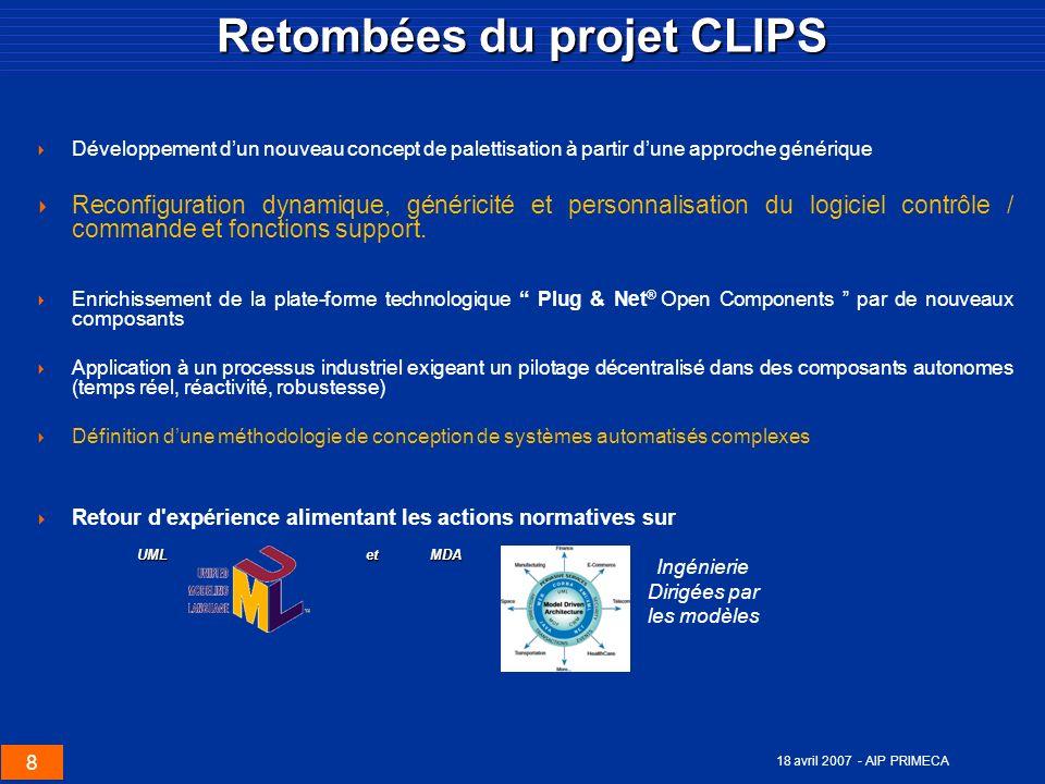 Retombées du projet CLIPS