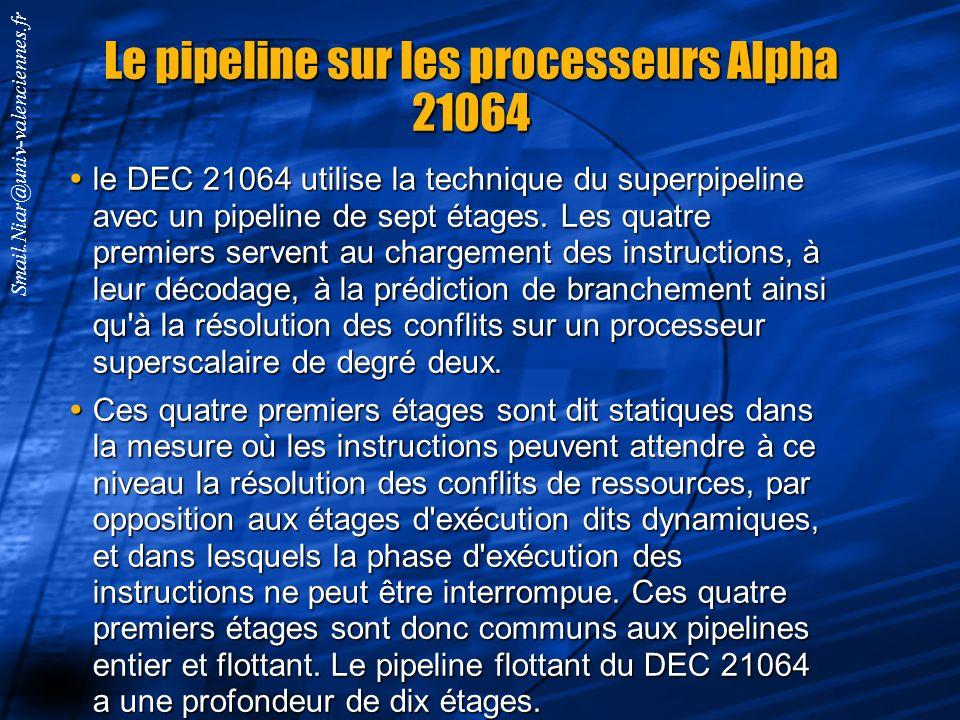Le pipeline sur les processeurs Alpha 21064