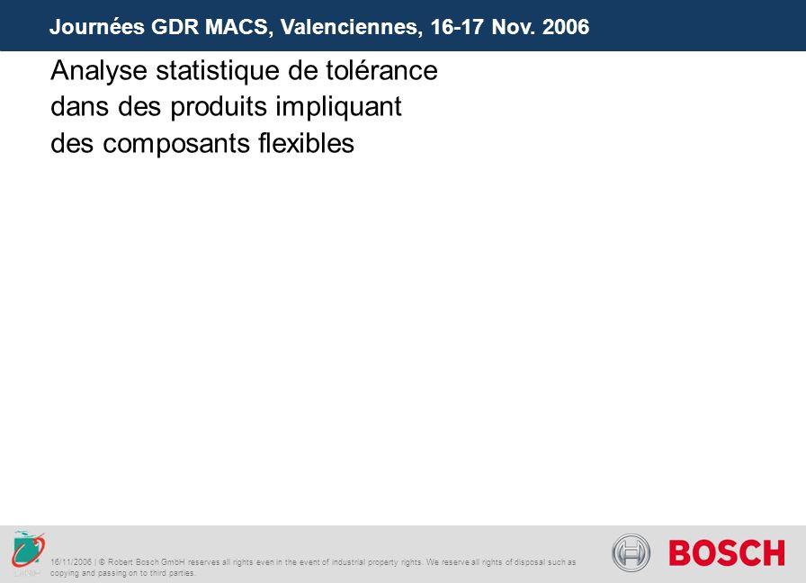 Journées GDR MACS, Valenciennes, 16-17 Nov. 2006