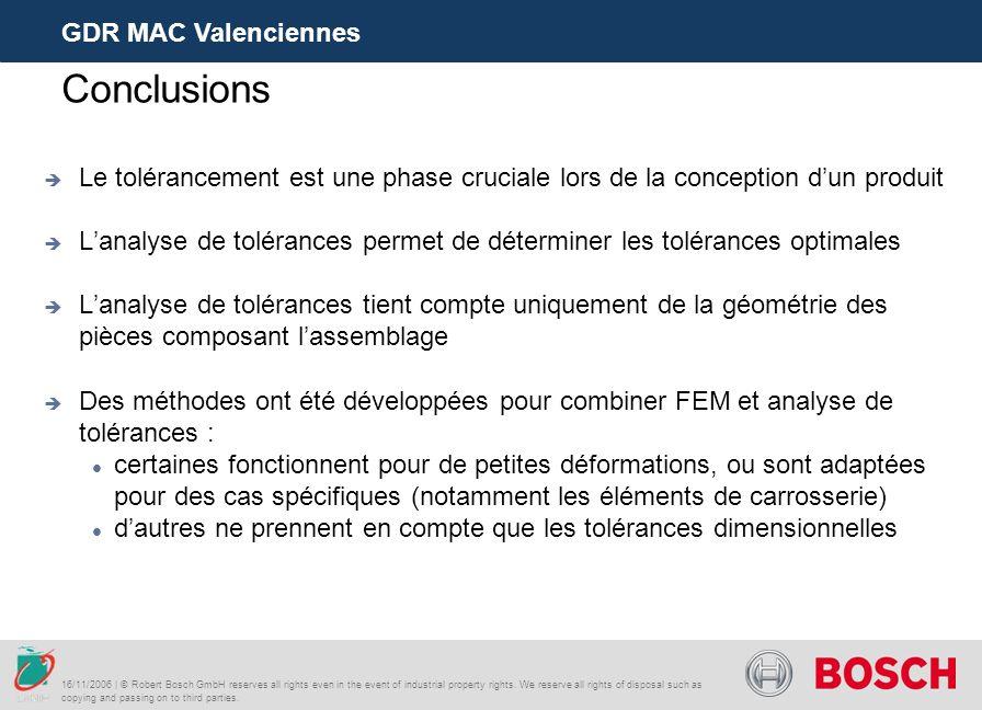 Conclusions GDR MAC Valenciennes