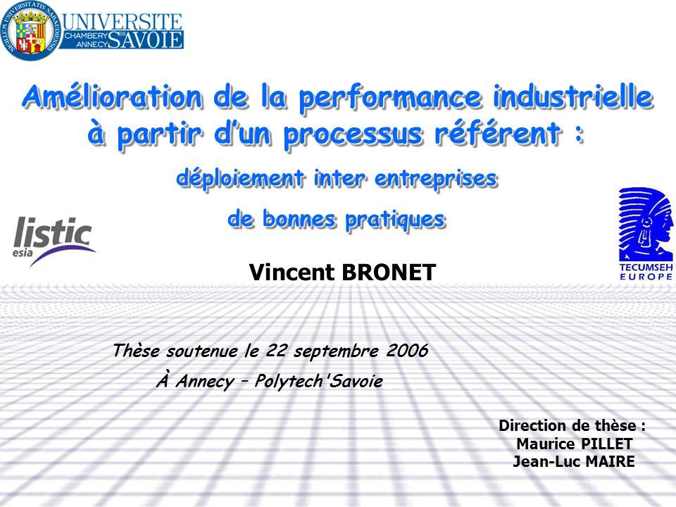 Amélioration de la performance industrielle à partir d'un processus référent :