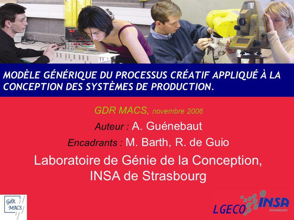 Laboratoire de Génie de la Conception, INSA de Strasbourg