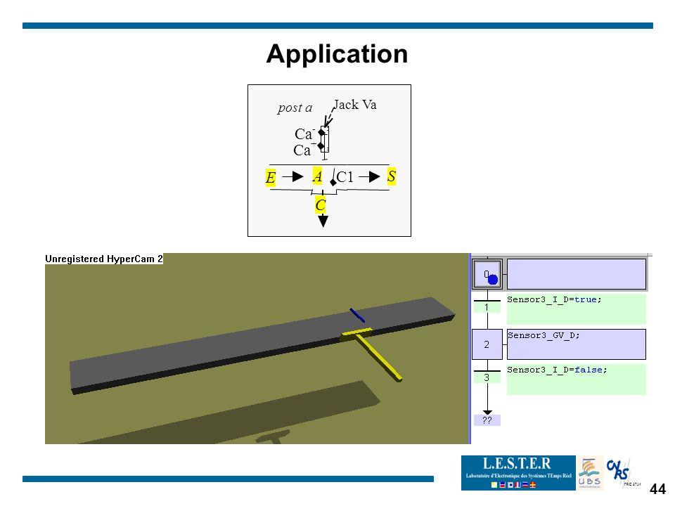 Application post a C1 Jack Va A Ca - + C E S 44