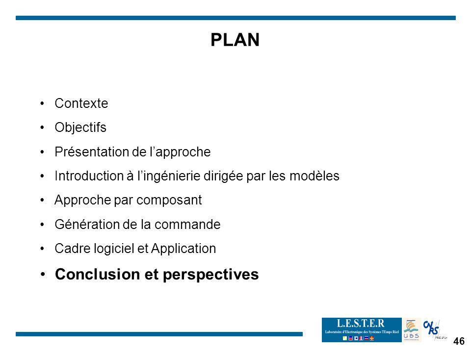 PLAN Conclusion et perspectives Contexte Objectifs