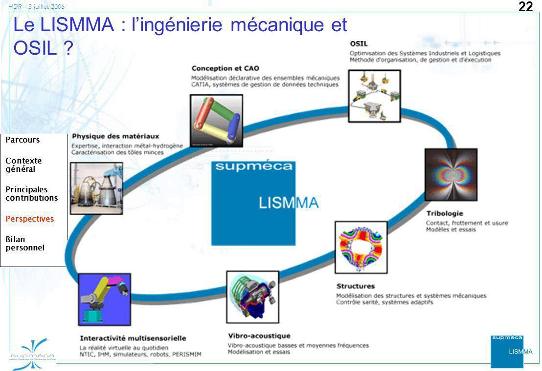 Le LISMMA : l'ingénierie mécanique et OSIL