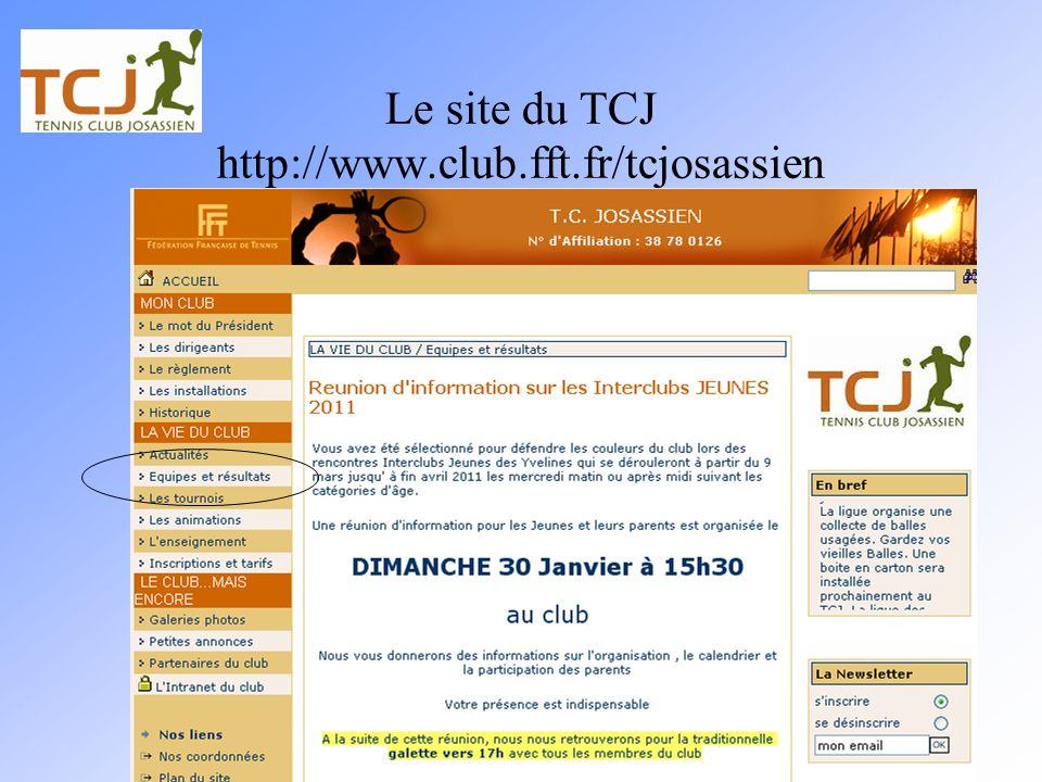 Le site du TCJ http://www.club.fft.fr/tcjosassien