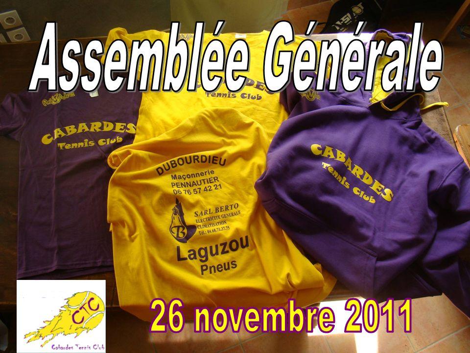 Assemblée Générale 26 novembre 2011