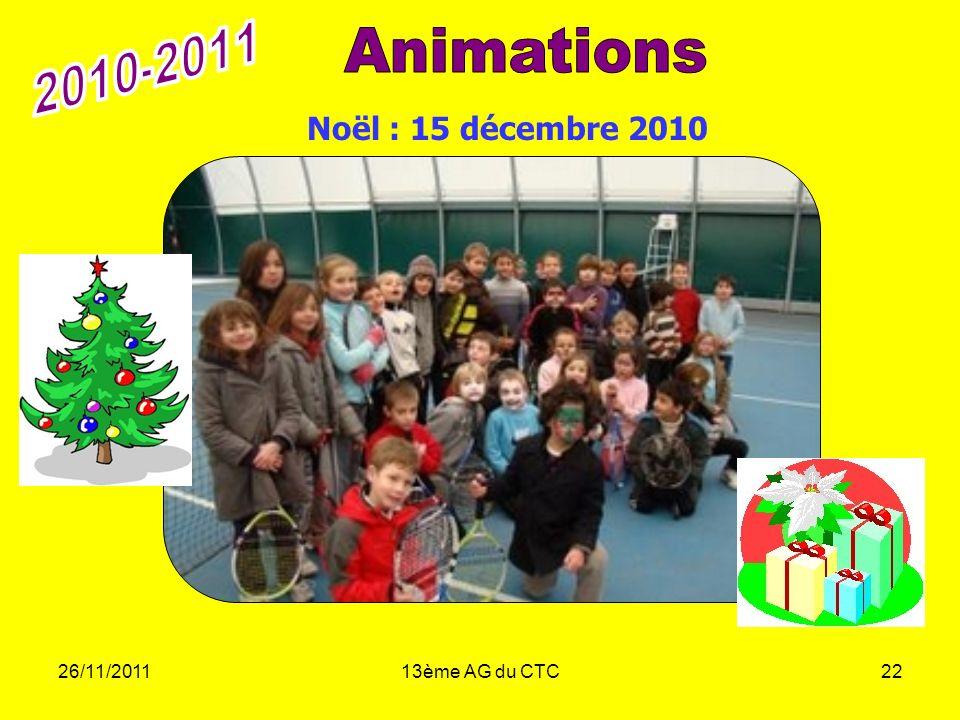 2010-2011 Animations Noël : 15 décembre 2010 26/11/2011