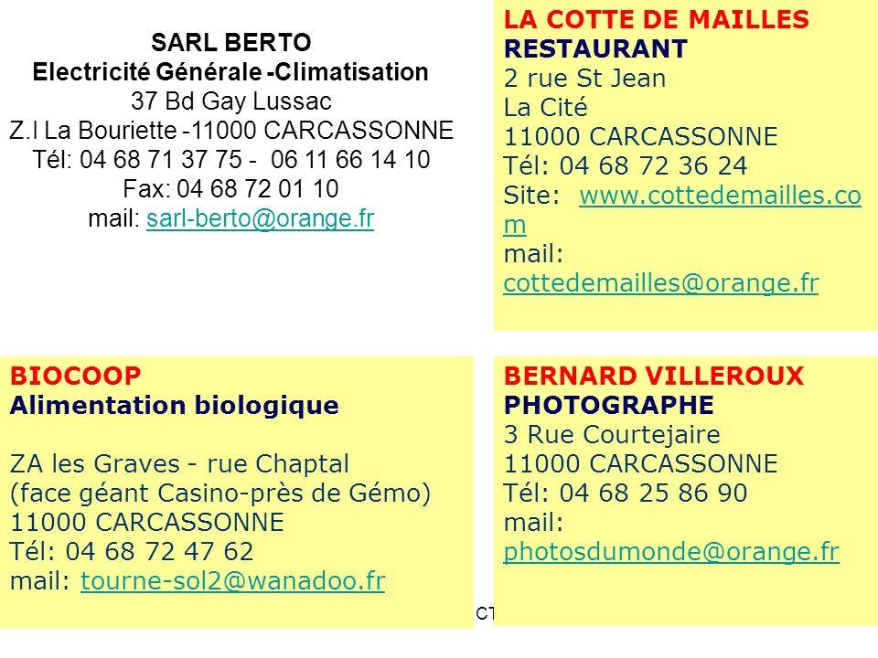 SARL BERTO Electricité Générale -Climatisation