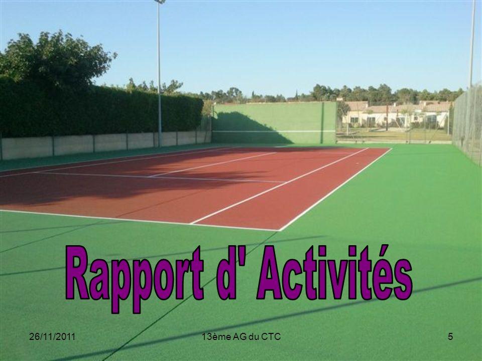Rapport d Activités 26/11/2011 13ème AG du CTC
