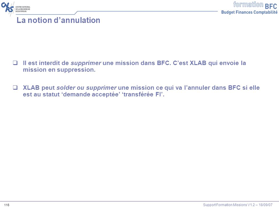 La notion d'annulation