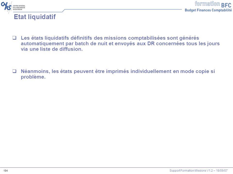 Etat liquidatif