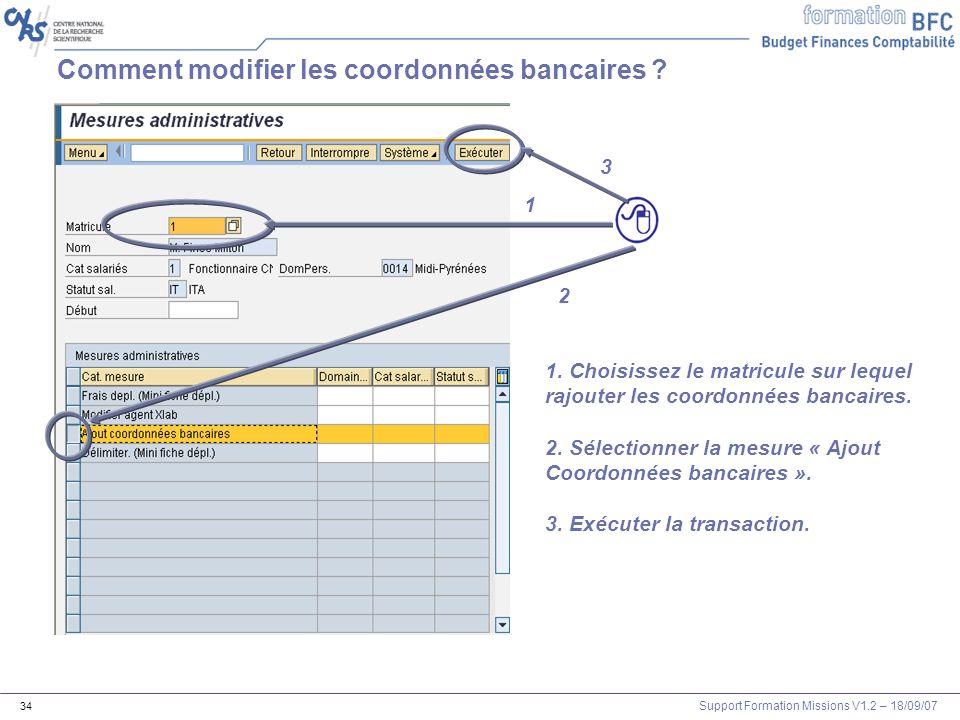 Comment modifier les coordonnées bancaires