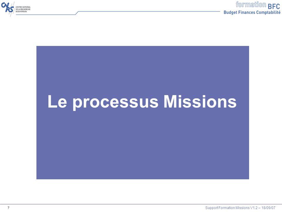 Le pro Le processus Missions