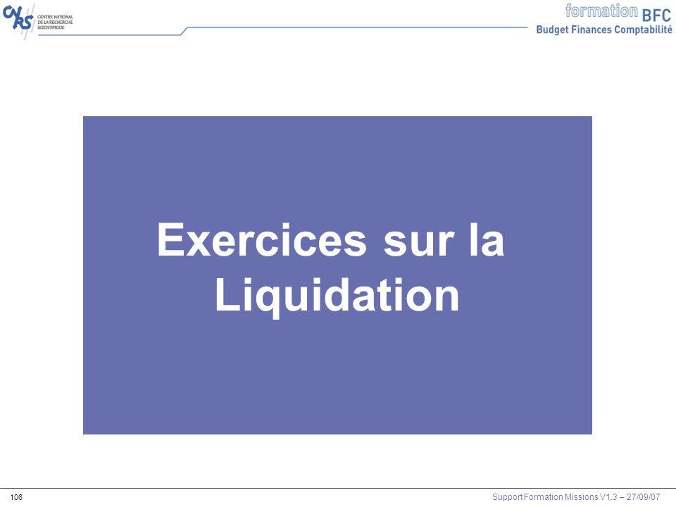 Exercices sur la Liquidation