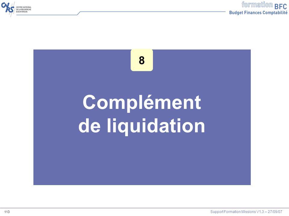 Complément de liquidation