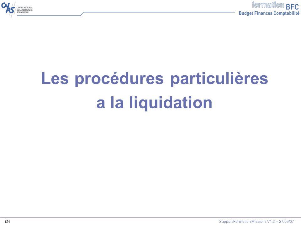 Les procédures particulières