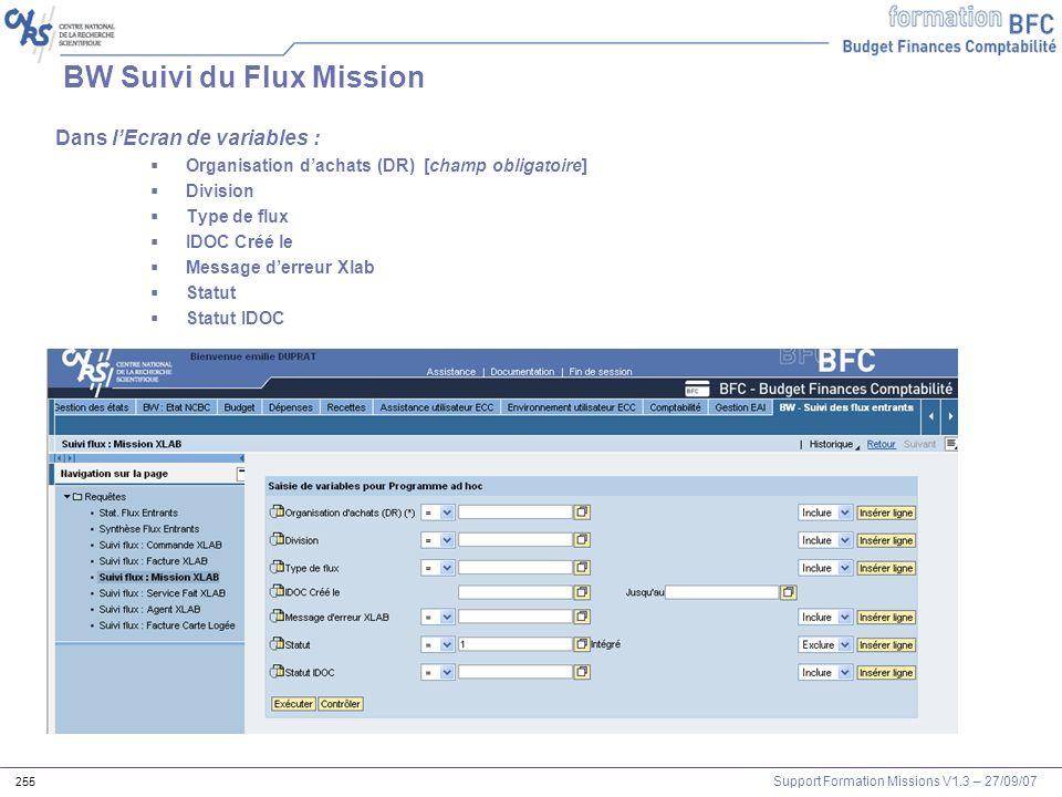 BW Suivi du Flux Mission