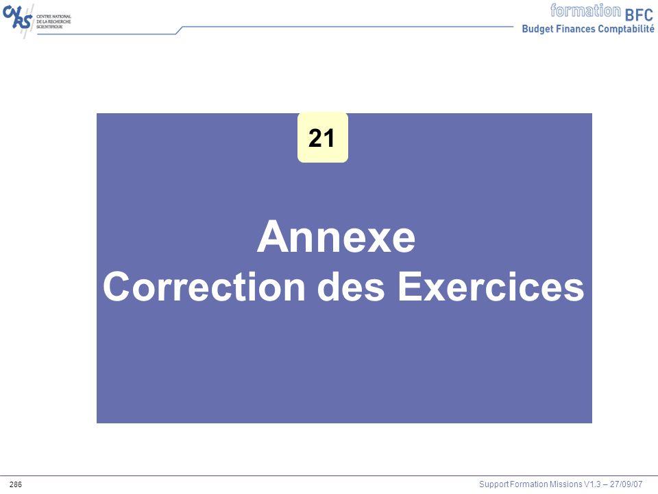 Correction des Exercices