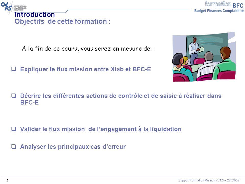 Introduction Objectifs de cette formation :