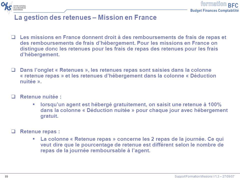La gestion des retenues – Mission en France