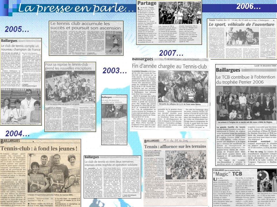La presse en parle… 2006… 2005… 2007… 2003… 2004…