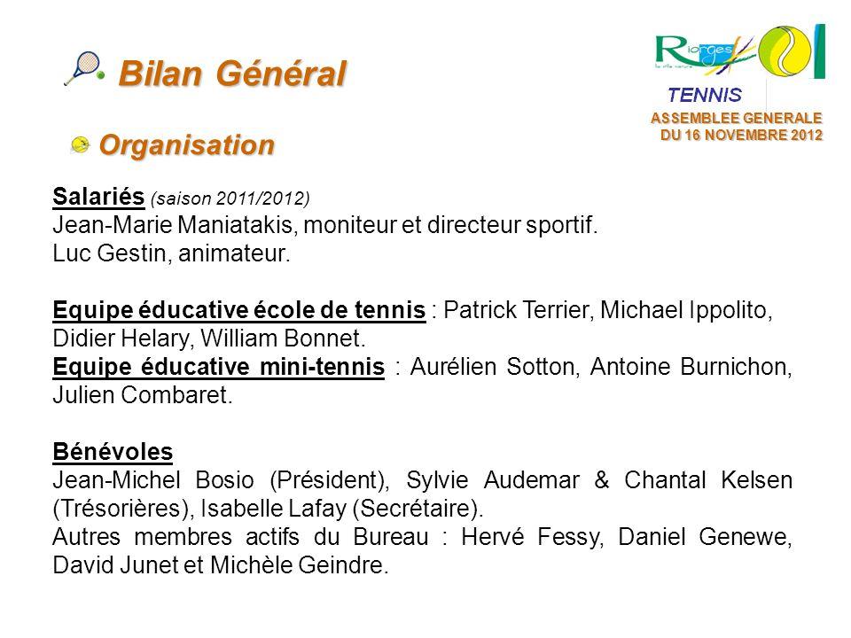 Bilan Général Organisation Salariés (saison 2011/2012)