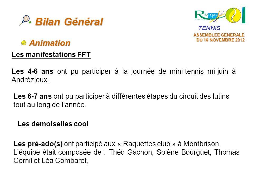 Bilan Général Animation Les manifestations FFT