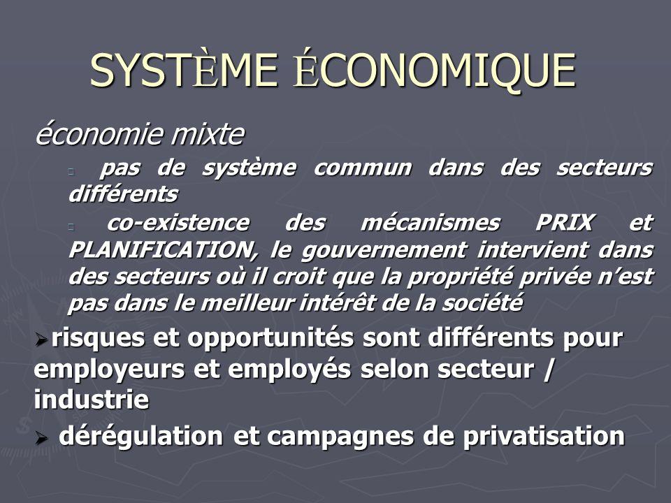 SYSTÈME ÉCONOMIQUE économie mixte