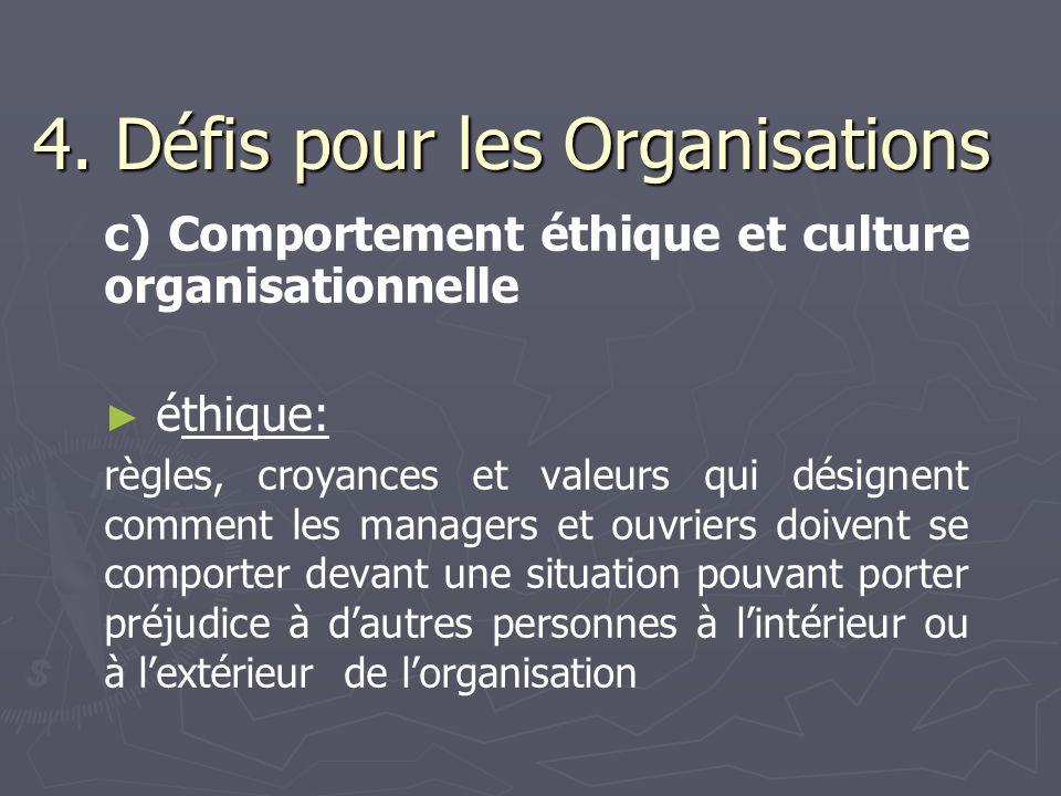4. Défis pour les Organisations