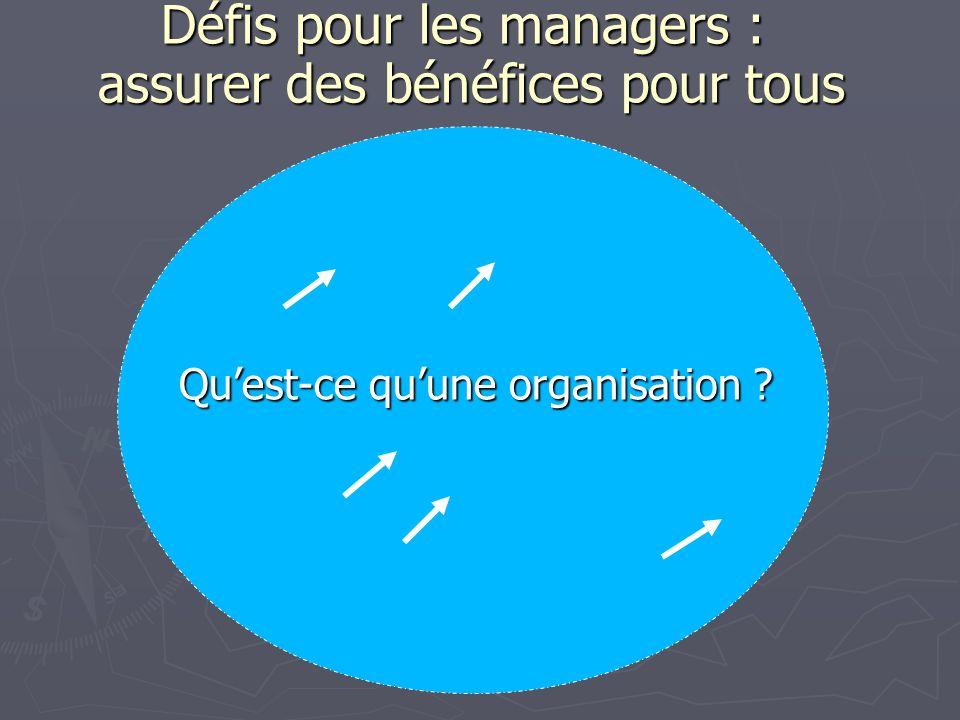 Défis pour les managers : assurer des bénéfices pour tous